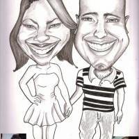 Caricatura Preto e branco- Tamanho 30x40