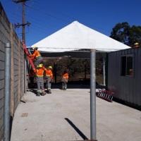 Aluguel de tendas para obra
