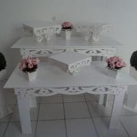 Mesa Provençal, decorada de acordo com o tema