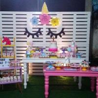 Festa Unicórnio Painel de Pallet, mobiliários e acessórios.