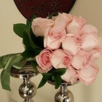 Buquê de noiva com rosas naturais