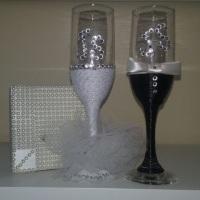 taça noivos decorada e personalizada