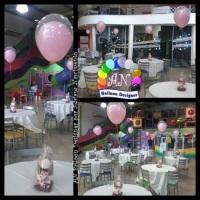 Balões duplos com gás hélio para centro de mesa.