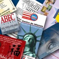 Design - criação de logotipos, folders, flyers, cartões, cartazes, convites etc.