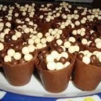 Brigadeiro no copinho de chocolate