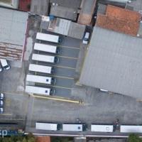 foto aérea da garagem