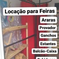 Alugamos Arara de Roupas, Provador Portátil, Balcão-Caixa, Mesa-Cavaletes, Manequim, Cabides. Fale