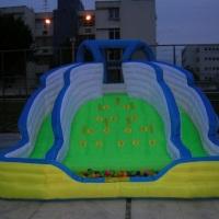 escalada c/ escorregador e piscina