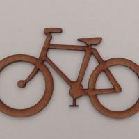 Bicicleta em MDF cru