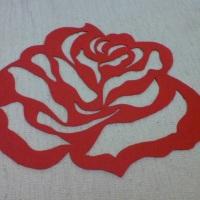 Rosa em MDF
