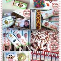 Mesa de Guloseimas e embalagens para doces personalizadas