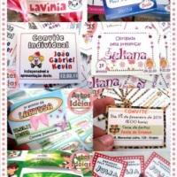 Tags personalizadas para lembranças e Convites Individuais