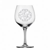 Taça de vinho personalizada com jato de areia
