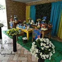 Casamento Tropical Paleta de cores:Azul Turquesa e Amarelo (Cerimonial + Decoração Principal)
