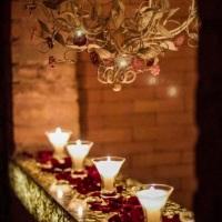Tulipas luminárias velas