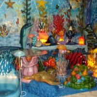 Peças em fibra para decoração. Tema: Fundo do Mar