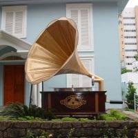 Decoração Gramofone Gigante 5 metros