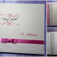 Caderno assinatura 15 anos.