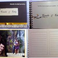 Caderno assinatura casamento.