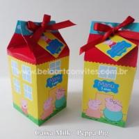 Peppa Pig caixa Milk lembrancinhas