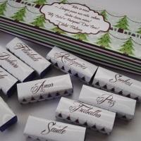 Chocolates Personalizados  caixa c/ 20 und. ou com 6 unididades.