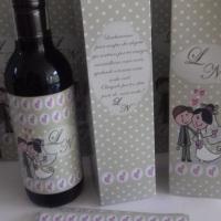 Mini Vinho Personalizado. Vendemos apenas os rótulos e a sacolinha. Tanto para mini vinho como mini