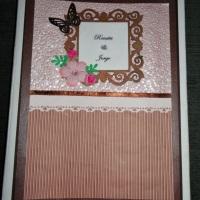 Livro de Mensagens /Assinaturas para Casamento de scrapbook