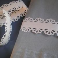 Porta-guardanapo em papel rendado