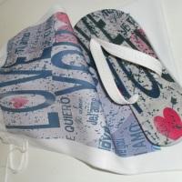 Sandália Personalizada em Transfer.Bag personalizada opcional.