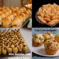 Lanchinhos Gourmet (PICNIC ou coquetel) MIni lanchinhos de frios, pasteizinhos, batata potato, mini