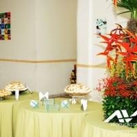 Buffet e arranjos florais