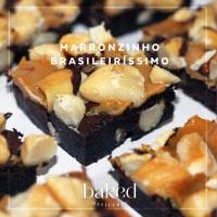 Brownie de Castanha do Brasil com Doce de Leite