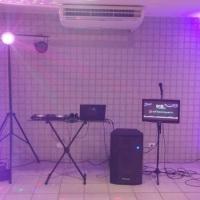Baladinha completa com dj, som, iluminação e fumaça TV com Karaokê e Just Dance.