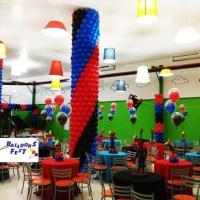 Colunas forradas com easy-system balões