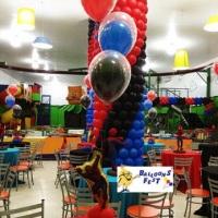 Arranjo de balões com gás duplos