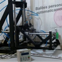 Máquina automática para imprimir balões
