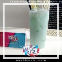 Coquetel Blue Hawaii, perfeito para todos os paladares. Uma combinação de Abacaxi com curaçau blue.