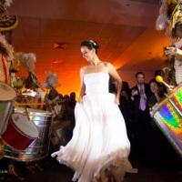 bateria iluminados em casamento na Torre