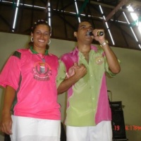 Rose Rosa e  Lequinho  compositor e e interprete da mangueira.