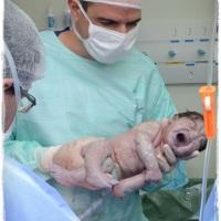 foto parto + new born