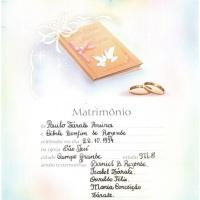 lembrança de matrimônio em Rounde francesa e caneta tinteiro