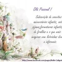 anúncio de convites infantis em letrinhas informais, também faço em guache ou aquarela