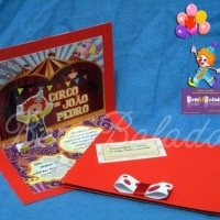 Convite Infantil - Tema Circo/Palhaço