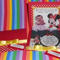 Convite Infantil - Minnie Pop Up