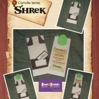 Convite Infantil - Tema Shrek
