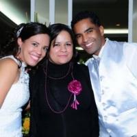 Kelly Soares e os Noivos Vivian e Danilo