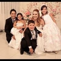 Noivos Leandro e Vivienne,Damas e Pajem