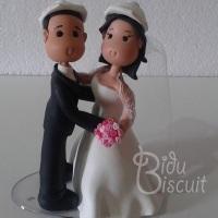 Topo de bolo: noivos (fofinhos)