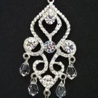 Brincos grandes para noivas com cristais e strass swarovski