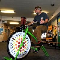 Bike-Ligth, suco natural feito na hora  feito pelo participante pedalando / Novidade muito legal!!!